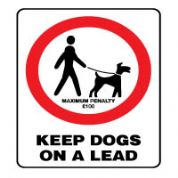 Prohibition safety sign - Keep Dogs On a Lead 161